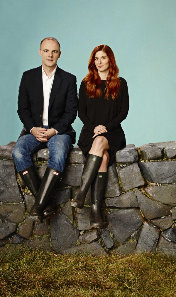 Brian F. O'Byrne and Debra Messing