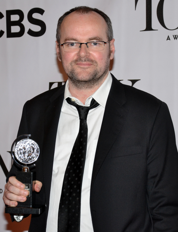 Dennis Kelly in the press room at the 2013 Tony Awards.