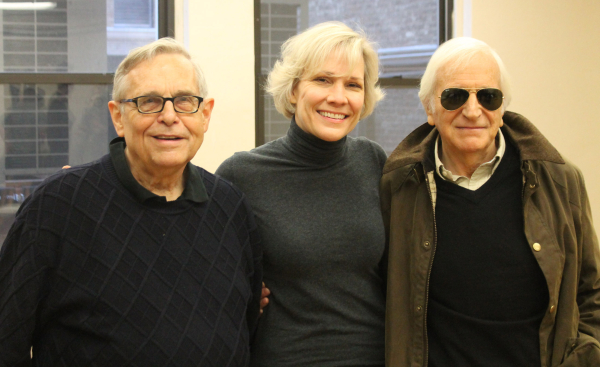 Richard Maltby Jr., Stevie Holland, and Gary William Friedman at the first day of rehearsal for Love, Linda: The Life of Mrs. Cole Porter.