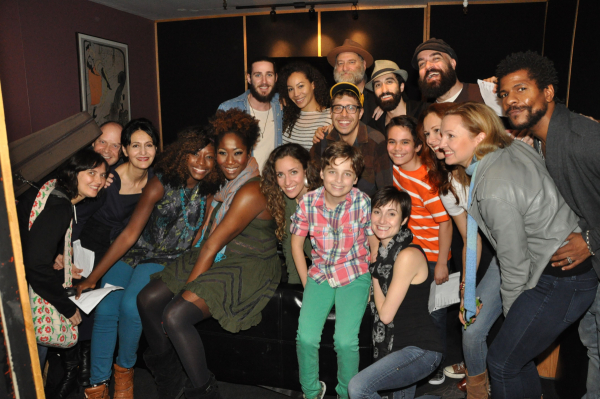 The cast of Soul Doctor in the recording studio.