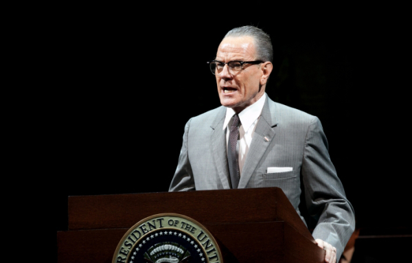 Bryan Cranston as LBJ in All the Way at A.R.T.