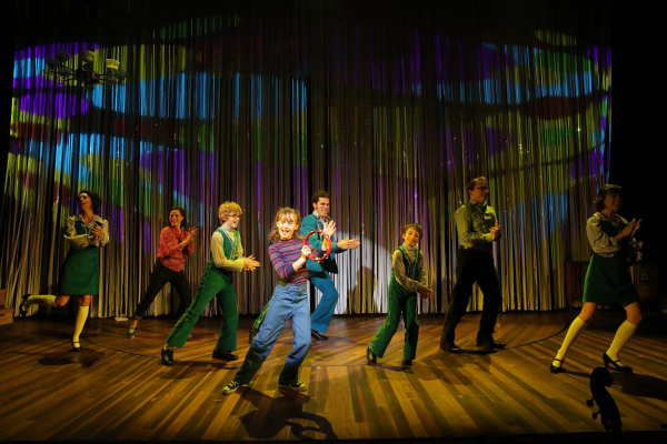 The cast of Fun Home at the Public Theater.