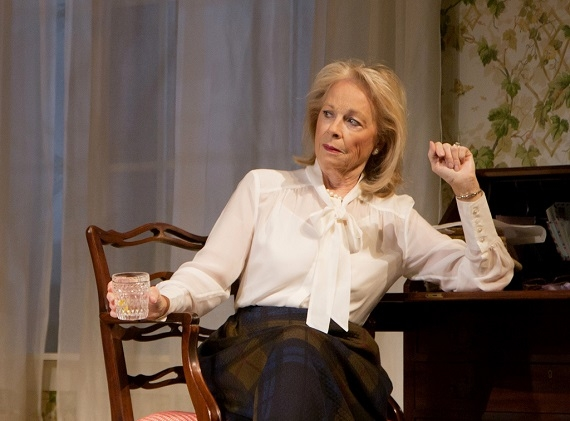 Maureen Anderman in the Huntington Theatre Company's production of A.R. Gurney's The Cocktail Hour.