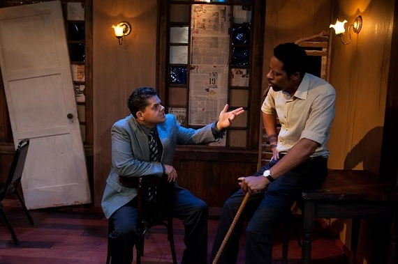 Aris Alvarado and Steven Stanton in John Patrick Shanley;s Storefront Church, directed by Ronnie Marmo, at L.A.'s NoHo Arts Center.