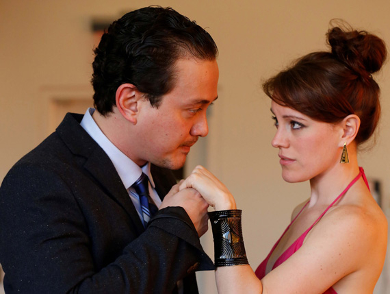 Michael Braun and Samantha Soule in Much Ado About Nothing.