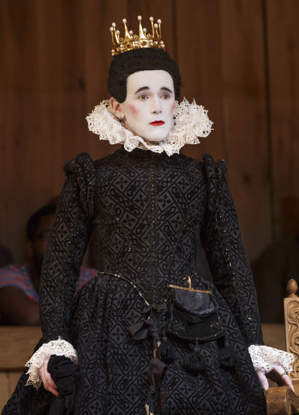 Mark Rylance as Olivia in the Shakespeare's Globe production of Twelfth Night.