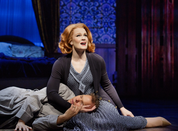 Norbert Leo Butz and Kate Baldwin in Big Fish.