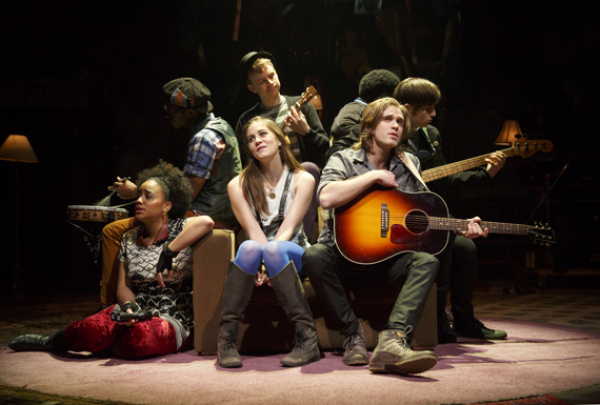 Front: Nathaly Lopez, Laura Dreyfuss, and Kyle Riabko in What's It All About? Bacharach Reimagined.