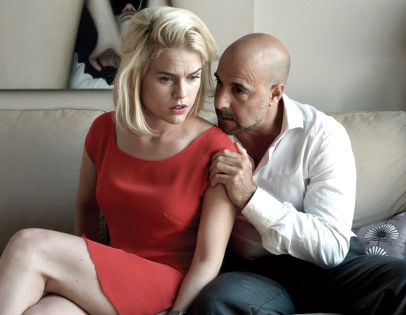 Alice Eve and Stanley Tucci in a scene from Neil LaBute's Some Velvet Morning.