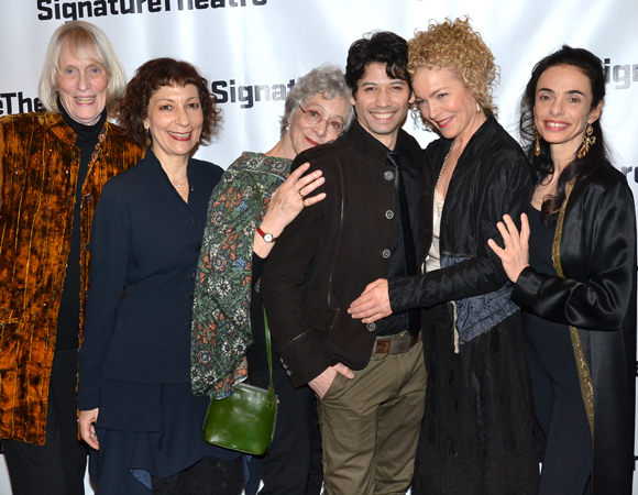 The Chéri family: writer Tina Howe, pianist Sarah Rothenberg, director/choreographer Martha Clarke, and stars Herman Cornejo, Amy Irving, and Alessandra Ferri.