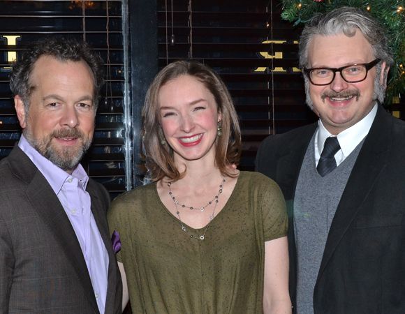 The cast of The (Curious Case of the) Watson Intelligence: David Costabile, Amanda Quaid, and John Ellison Conlee.