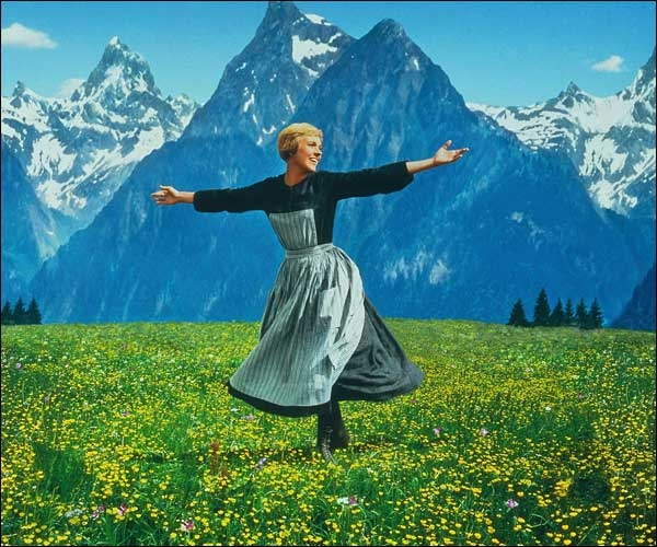 Julie Andrews in the film adaptation of The Sound of Music
