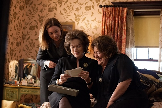 Julianne Nicholson as Ivy Weston, Meryl Streep as Violet Weston, and Margo Martindale as Mattie Fae Aiken in the film August: Osage County.