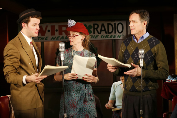 Ian Holcomb, Kristin Griffith, and Howard McGillin in It's a Wonderful Life, The Live Radio Play.