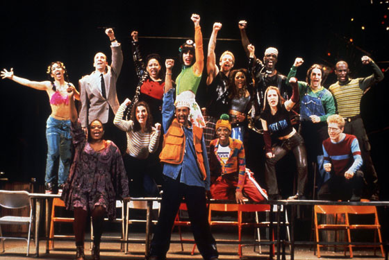 Original Broadway cast of Rent.