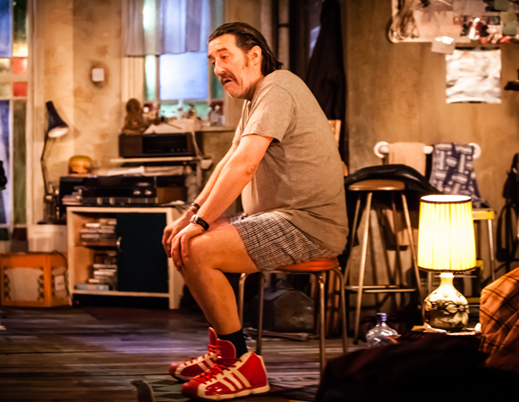 Ciarán Hinds in Conor McPherson's The Night Alive at Atlantic Theater Company.