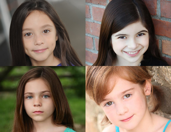 The new stars of Broadway's Matilda: Ava Ulloa, Gabriella Pizzolo (top row); Paige Brady, Ripley Sobo (bottom row).