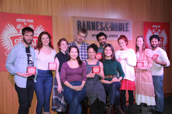 Dave Malloy and the cast of Natasha, Pierre & the Great Comet of 1812 show off their new cast recordings at Barnes & Noble.