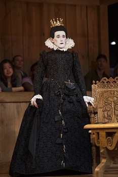 Mark Rylance as Olivia in the Shakespeare's Globe production of Twelfth Night, directed by Tim Carroll, at Broadway's Belasco Theatre.