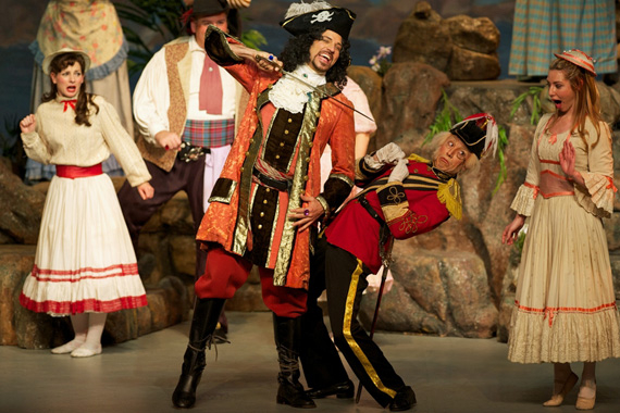 David Wannen and James Mills in The Pirates of Penzance.