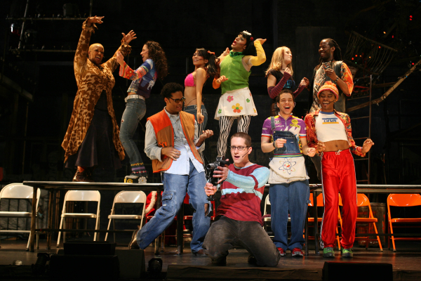 A scene from Rent on Broadway.