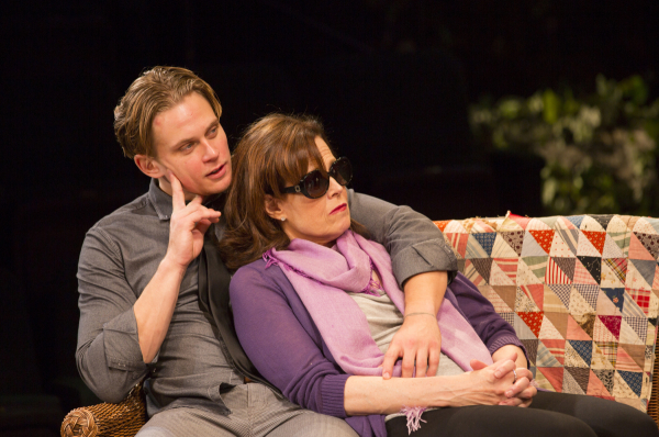 Billy Magnussen with Sigourney Weaver in Broadway's Vanya and Sonia and Masha and Spike.