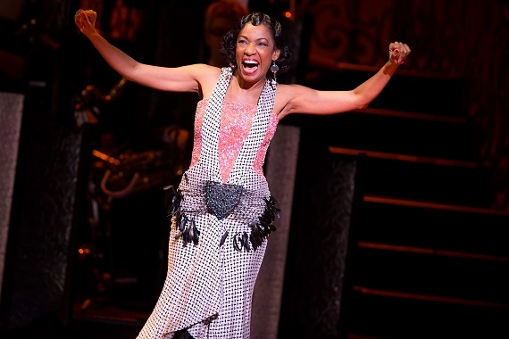 Adriane Lenox in After Midnight at Broadway's Brooks Atkinson Theatre.