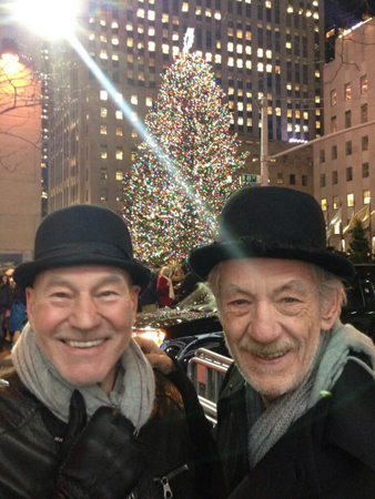 The Sirs with the Rockefeller Center Christmas Tree.