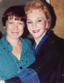 Susan Schulman and her idol, Mary Martin.