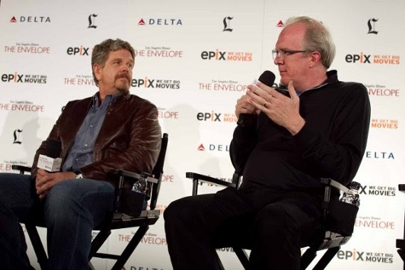 August: Osage County director John Wells with playwright-screenwriter Tracy Letts.