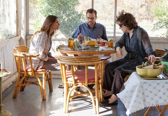 Julia Roberts, Ewan McGregor, and Meryl Streep in the film August: Osage County.