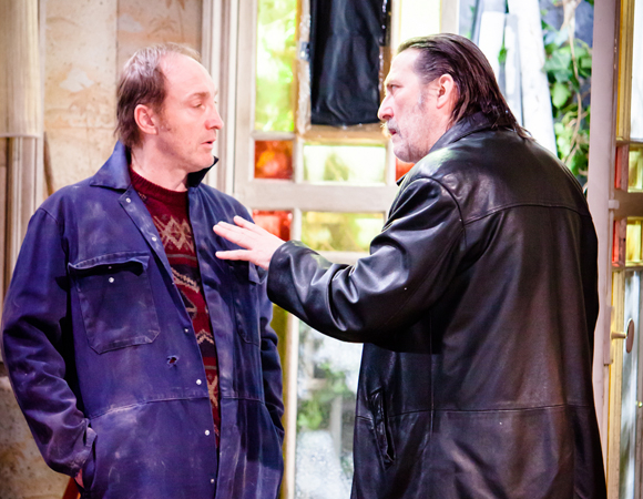 Michael McElhatton and Ciarán Hinds in Conor McPherson's The Night Alive.