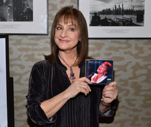 Patti LuPone at the Far Away Places CD signing.