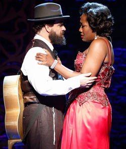 Eric Anderson and Amber Iman as Shlomo Carlebach and Nina Simone in Soul Doctor.