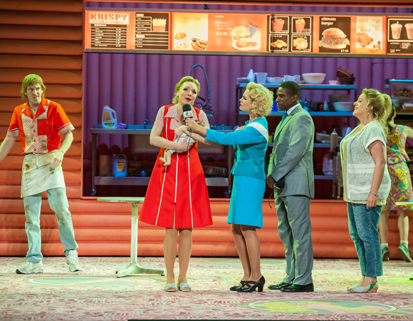 Testa took on the role of Anna Nicole's Aunt Kaye in the opera Anna Nicole, when it played at BAM in September.
