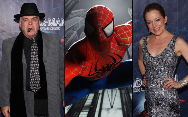 Michael Mulheren (left) and Isabel Keating (right) at opening night of Broadway's Spider-Man Turn Off the Dark.