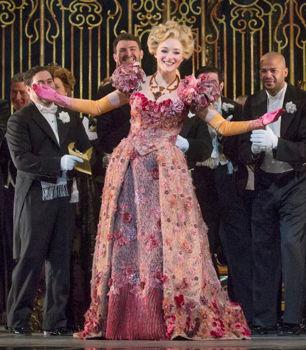 Betsy Wolfe as Ida in Jeremy Sams' production of Die Fledermaus at the Metropolitan Opera.