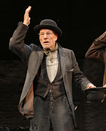 Sir Patrick Stewart as Vladimir in Waiting for Godot.