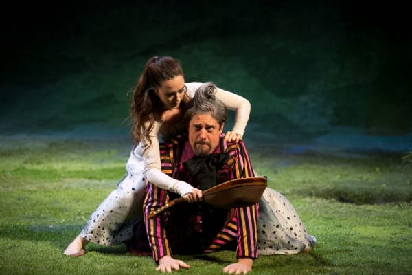 Christina Bennett Lind and Christopher Sieber in The Heart of Robin Hood.