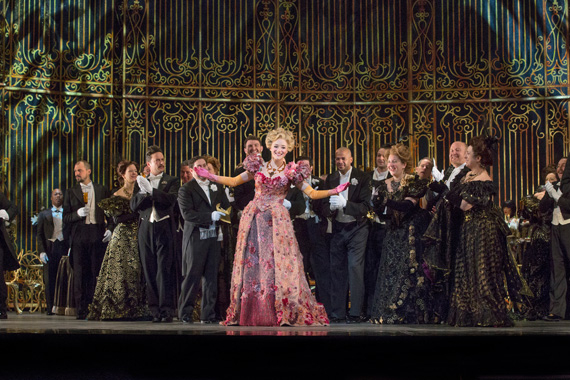 Betsy Wolfe as Ida in Die Fledermaus.
