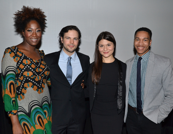 "Theater nominee Amber Iman (""Soul Doctor""), winner Jonny Orsini (""The Nance""), and nominees Phillipa Soo (""Natasha, Pierre & the Great Comet of 1812""), and Aaron Clifton Moten (""The Flick"")."