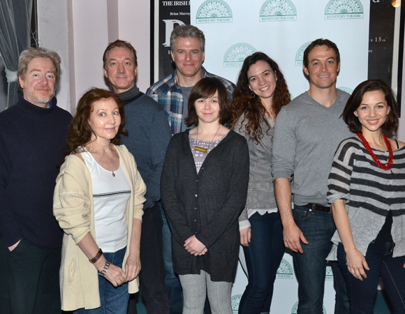 The cast of Transport, the new musical at the Irish Repertory Theatre.
