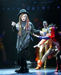 Euan Morton as Boy George in the 2003 Broadway production of Taboo.