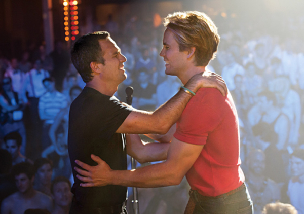 Mark Ruffalo as Ned Weeks and Taylor Kitsch as Bruce Niles in a scene from Ryan Murphy's HBO film adaptation of Larry Kramer's The Normal Heart.