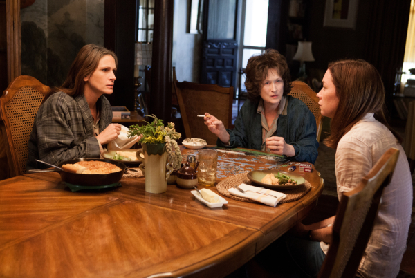 Julia Roberts, Meryl Streep, and Julianne Nicholson in John Wells' film adaptation of August: Osage County.