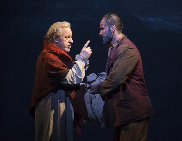 Original Jean Valjean Colm Wilkinson performs alongside Ramin Karimloo, who will be taking the role to Broadway this spring.