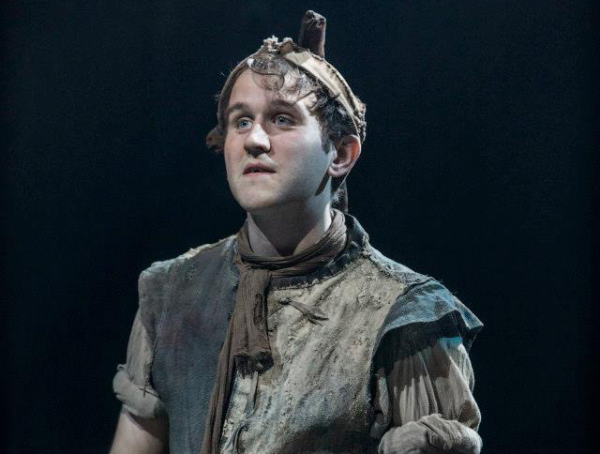 Harry Melling plays the Fool in Angus Jackson's production of Shakespeare's King Lear at BAM.