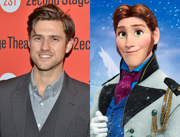 Aaron Tveit/ Hans of Frozen