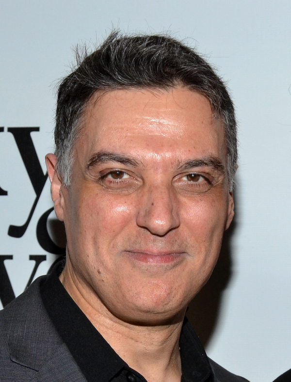 Robert Cuccioli stars as newsman Thomas F. Flynn in Flynn's new drama, Bikeman, directed by Michael Bush, at the BMCC Tribeca Performing Arts Center.