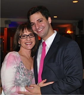 Patti LuPone with her son Joshua Johnston, the family's newest touring member of The Acting Company.